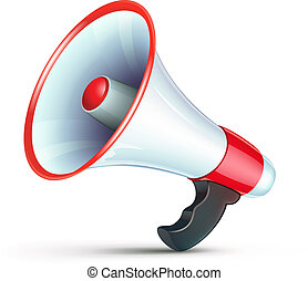 megaphone icon - Vector illustration of cool detailed ...