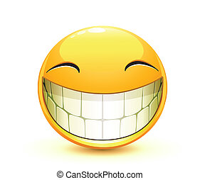 Vector illustration of cool glossy Single Emoticon