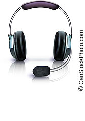 cool headphones - Vector illustration of cool headphones...