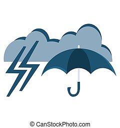Vector illustration of cool single weather icon - elegant opened
