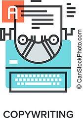 copywriting - Vector illustration of copywriting flat line ...