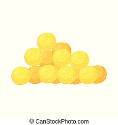 Vector illustration of corn and flake logo. Set of corn and snack vector icon for stock.