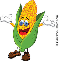Corn Cartoon - Vector Illustration Of Corn Cartoon