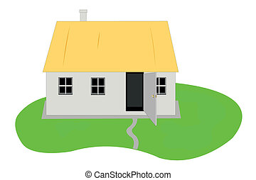 Vector illustration of country hut