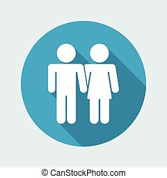 Vector illustration of couple icon