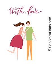 Vector illustration of couple in love