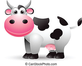 vector illustration of cow cartoon