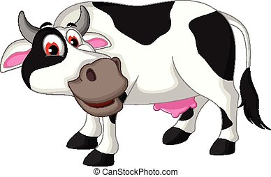cow cartoon posing