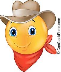 Cowboy smiley emoticon cartoon