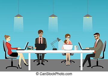 vector illustration of coworking center concept