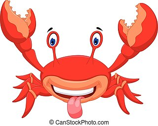 crab cartoon for you design - vector illustration of crab...