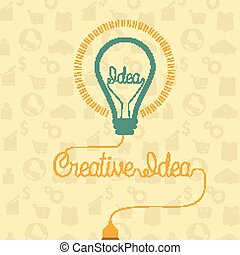 Creative idea concept with light bulb