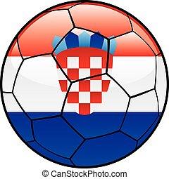 Croatia flag on soccer ball