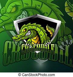 Crocodile sport mascot logo design