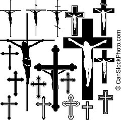crucifix - vector illustration of crucifix