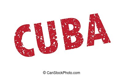 Vector illustration of Cuba grunge stamp