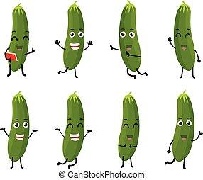 Cucumber cartoon character