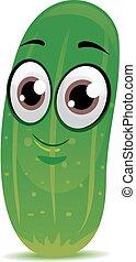 Cucumber Mascot - Vector Illustration of Cucumber Mascot