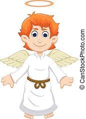 cute angel cartoon flying