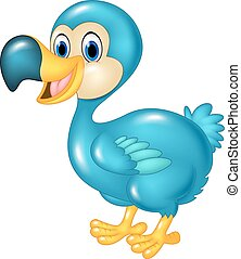 Cute animal dodo bird isolated - Vector illustration of Cute...