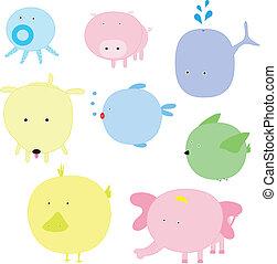 Vector illustration of cute animal