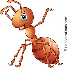 Vector illustration of Cute ant cartoon