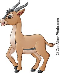 Cute antelope cartoon
