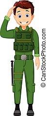 cute Army Cartoon respectful