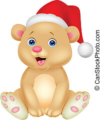 Cute baby bear cartoon sitting