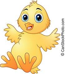 Cute baby chicks cartoon