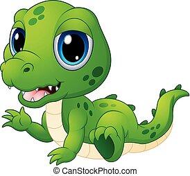 Cute baby crocodile cartoon