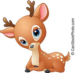 Cute baby deer cartoon