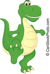 cute baby dinosaur cartoon
