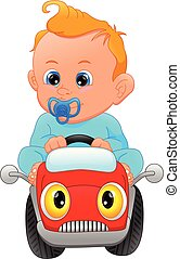 cute baby driving car toy