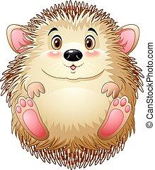 Cute baby hedgehog - Vector illustration of Cute baby...