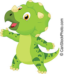 Cute baby triceratops cartoon