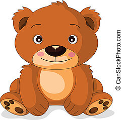 cute bear cartoon - vector illustration of cute bear cartoon
