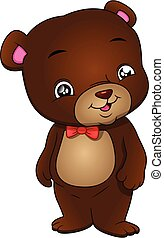 cute bear cartoon on a white background