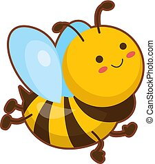Vector illustration of cute bee