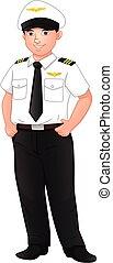 cute boy wearing pilot costume