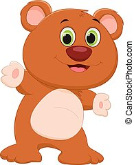 cute brown bear cartoon