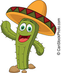 Cute cactus cartoon character - Vector illustration of Cute ...