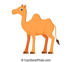 Vector illustration of cute camel cartoon on white background