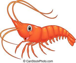 Cute cartoon shrimp