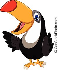Cute cartoon toucan bird