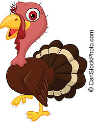 Cute cartoon turkey