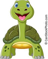 Cute cartoon turtle a smile