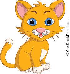 cute cat cartoon expression