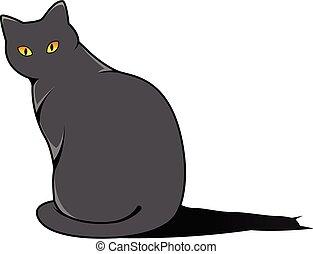 cute cat cartoon on a white background