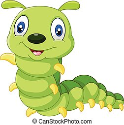 Vector illustration of Cute caterpillar cartoon